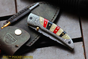 "DKC-160 RED HERRING Damascus Folding Pocket Knife 4.5"" Folded 8"" Open 8.2 oz 3.5 "" Blade"