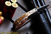 "++ DKC-43-PS PINK Pearl Shell Thumb Damascus Steel Folding Pocket Knife 3.5"" Folded 6.25"" Open 7.5oz 2.25"" Blade High Class Looks DKC Knives"