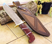 """DKC-1101 JUNGLE SCOUT Damascus Bowie Knife Blade 10"""" Blade 15."""" Overall 26oz ND-Series"""