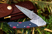 "DKC-133-R BLACK JACK Damascus 4.75' Folded 7.75"" Open 6.1 oz Pocket Folding Knife DKC Knives Hand Made Incredible Look and Feel"
