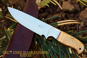 """DKC-511-440c TRAIL BLAZER Fixed Blade Stainless Steel Hunting Knife Olive Wood Burl Handle 9"""" Long, 5.5"""" Blade 8oz DKC Knives"""