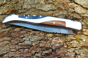 """++ DKC-810 SANTIAGO Damascus Steel Laguiole Corkscrew Style Pocket Knife 5"""" Folded 8.5"""" Open 4oz 3.5"""" Blade High Class Looks Incredible Feels Great In Your Hand And Pocket DKC Knives"""