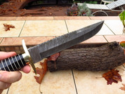 "DKC-6002 Santini Bowie Damascus Steel Hunting Knife DKC Knives 1.4 lbs 15""Long 10'' Blade (DKC-6002)"