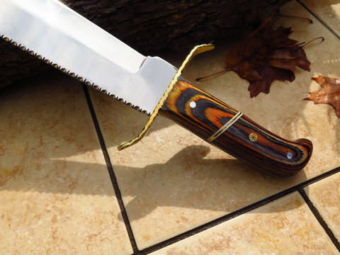 """DKC-6008 Silver Tiger Bowie 440c Stainless Steel Hunting Knife DKC Knives 1.3lbs 15""""Long 10'' Blade"""