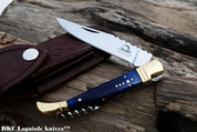 "DKC Knives DKC-783-440c Ocean Laguiole 440c Stainless Steel Folding Pocket Knife 4 oz 8.5"" Long 3.5"" Blade"