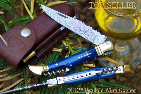 "DKC-783 Ocean Laguiole Damascus Steel Folding Pocket Knife 4 oz 8.5"" Long 3.5"" Blade DKC Knives"