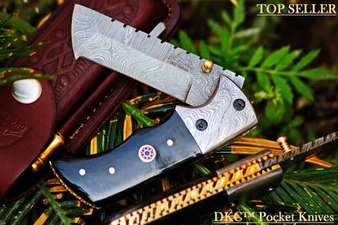 """DKC-27- WIZARD Tanto Folding Pocket Knife 7"""" Long 4"""" Folded 6 oz DKC Knives"""