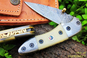 """DKC-29 STING Damascus Folding Pocket Knife 7""""Long, 4"""" Folded 6oz"""