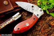 "DKC-44 FOX Damascus Folding Pocket Knife 5"" Folded 8"" Long 6.7 oz High Class Looks Incredible Feels Great In Your Hand And Pocket DKC Knives ™"