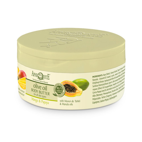 This lavishly hydration body butter nurtures and hydrates the skin all day long. Great tropical scent! Ideal for very dry skin.