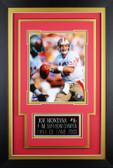Joe Montana Framed 8x10 San Francisco 49ers Photo with Nameplate (JM-P3C)