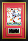 Joe Montana Framed 8x10 San Francisco 49ers Photo with Nameplate (JM-P4C)