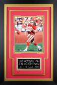 Joe Montana Framed 8x10 San Francisco 49ers Photo with Nameplate (JM-P5C)