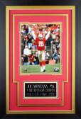 Joe Montana Framed 8x10 San Francisco 49ers Photo with Nameplate (JM-P6C)