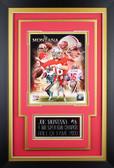 Joe Montana Framed 8x10 San Francisco 49ers Photo with Nameplate (JM-P7C)