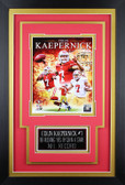 Colin Kaepernick Framed 8x10 San Francisco 49ers Photo with Nameplate (CK-P1C)