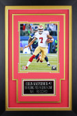 Colin Kaepernick Framed 8x10 San Francisco 49ers Photo with Nameplate (CK-P2C)
