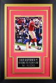 Colin Kaepernick Framed 8x10 San Francisco 49ers Photo with Nameplate (CK-P5C)
