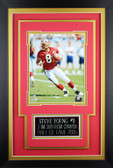 Steve Young Framed 8x10 San Francisco 49ers Photo with Nameplate (SY-P3C)