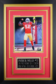 Patrick Willis Framed 8x10 San Francisco 49ers Photo with Nameplate (PW-P1C)