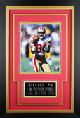 Jerry Rice Framed 8x10 San Francisco 49ers Photo with Nameplate (JR-P2C)