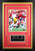 Jerry Rice Framed 8x10 San Francisco 49ers Photo with Nameplate (JR-P4C)
