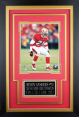 Deion Sanders Framed 8x10 San Francisco 49ers Photo with Nameplate (DS-P1C)
