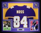 Randy Moss Autographed and Framed Purple Vikings Jersey Auto PSA COA