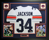 Bo Jackson Autographed and Framed White Auburn Jersey Auto JSA Certified (Free Shipping !!)