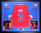 Chris Paul Autographed and Framed Red Clippers Jersey Auto Steiner COA (Free Shipping !!)