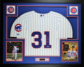 Greg Maddux Autographed and Framed White P/S/ Cubs Jersey Auto MLB COA (Free Shipping !!)