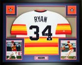 Nolan Ryan Autographed and Framed Rainbow Astros Jersey Auto JSA COA