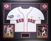 Curt Schilling Autographed & Framed White Red Sox Jersey Steiner Cert (L3L)