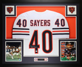 Gale Sayers Autographed and Framed White Bears Jersey Auto JSA Cert
