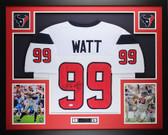 JJ Watt Framed & Autographed White Texans Jersey Auto JSA COA