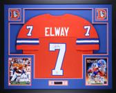 John Elway Autographed & Framed Orange Crush Broncos Jersey Auto JSA COA (L-1)