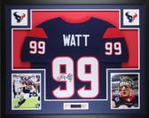 JJ Watt Framed & Autographed Navy Texans Jersey Auto JSA Cert (L-1)(Free Shipping!!)