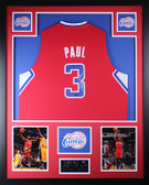 Chris Paul Autographed and Framed Red Clippers Jersey Auto Steiner COA D1-V