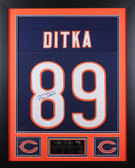 Mike Ditka Autographed and Framed Blue Bears Jersey Auto JSA COA (D2-S)