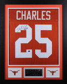 Jamaal Charles Autographed and Framed Orange Longhorns Jersey Auto GT COA D1-S