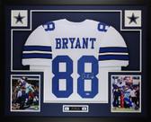 Dez Bryant Autographed & Framed White Cowboys Jersey Auto PSA COA D1-L
