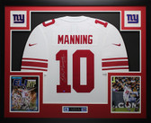 Eli Manning Autographed & Framed White Nike Giants Jersey Auto Steiner COA D2-L