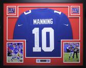 Eli Manning Autographed & Framed Blue Nike Giants Jersey Auto Steiner COA D3-L