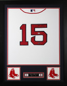 Dustin Pedroia Autographed & Framed White Red Sox Jersey  Auto Steiner COA D1-S