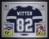 Jason Witten Autographed & Framed Blue Cowboys Jersey Auto JSA COA D1-L