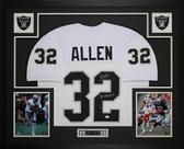 Marcus Allen Auto SBXVIII MVP & Framed White Raiders Jersey Auto JSA COA D5-L