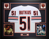Dick Butkus Autographed and Framed White Bears Jersey Auto JSA COA D5-L
