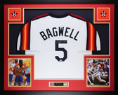 Jeff Bagwell Autographed and Framed Rainbow Astros Jersey Auto Tristar COA D1-L