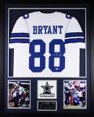 Dez Bryant Autographed & Framed White Cowboys Jersey Auto PSA COA D2-L