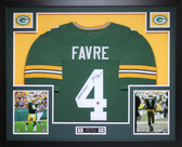 Brett Favre Autographed Signed SB XXXI Champs and Framed Green Packers Jersey Auto Favre Certified